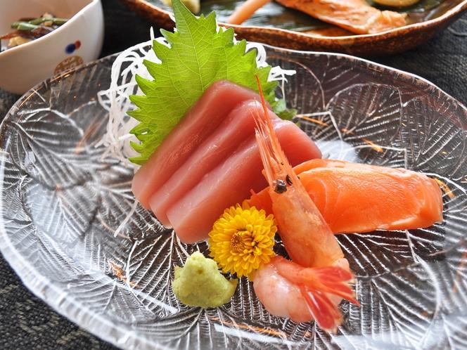 【夕食の一例】お刺身