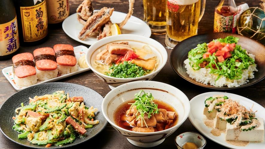 【リゾート内/南風 屋台村】三線の音を楽しみながら、沖縄料理をご堪能ください