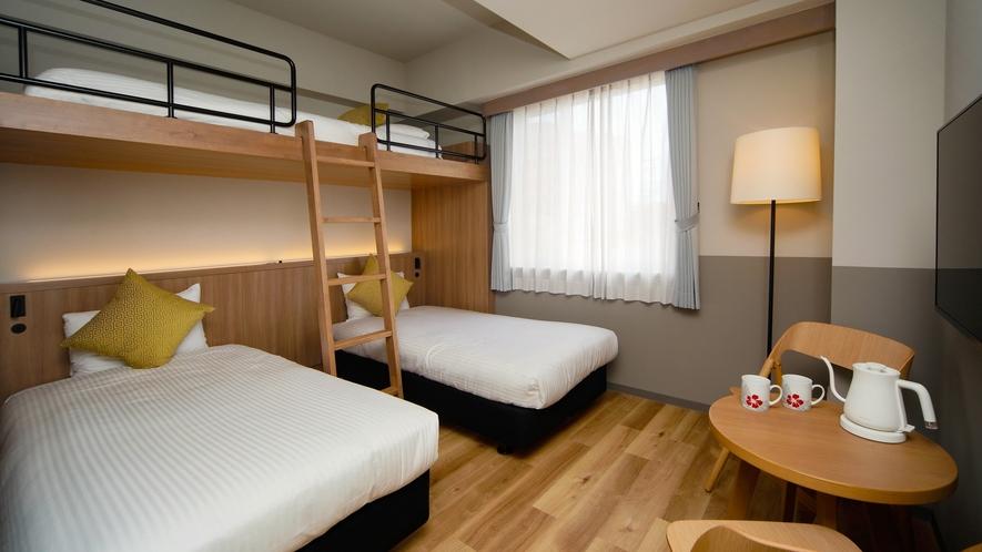 【サンセット館/コーラルロフト】ロフトベッドでのご宿泊は滞在をより楽しく演出します