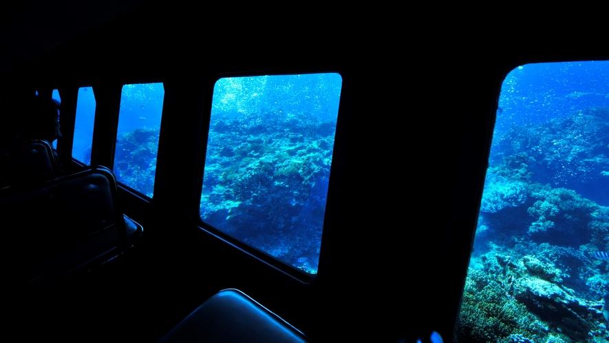 【半潜水式水中観光船 「シースカイ博愛」】離島唯一の半潜水式水中観光船