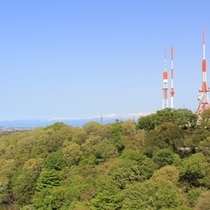 富山県【富山市街地方面の景色】