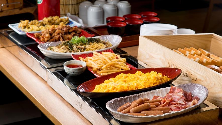 朝食(ビュッフェ台)
