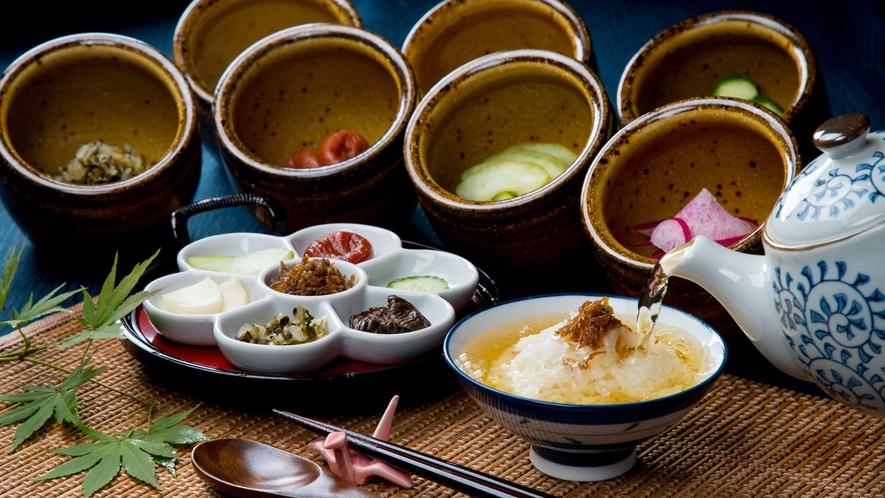 2種類のだし(茶だし、鯛だし)で楽しむ お茶漬けコーナー