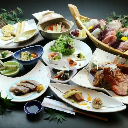 チョイス・和牛* 選べるメイン料理&金目鯛の煮付けを中心とした創作料理♪