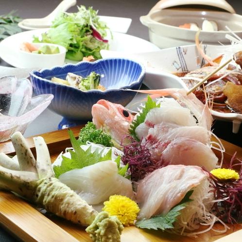 ライトプラン・料理一例* お刺身は一人旅プランでもお楽しみ頂けます
