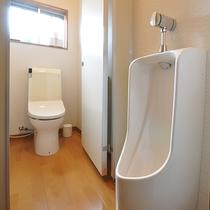 *[共用お手洗い]館内2か所にあり、トイレは全て洗浄機能付き。