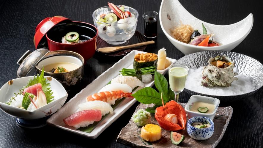 *【鮨会席】多くの魚が旬を迎えるこの季節に相応しい鮨会席。ネタはその日のお楽しみ。<7~9月>