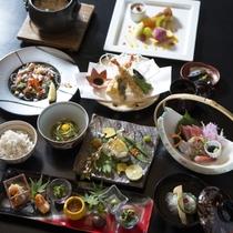 【別邸会席 煌】山本料理長お得意の創作性に富んだ会席スタイルをご堪能!