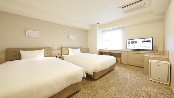 コーナーツインルーム【禁煙】120cm幅ベッド2台