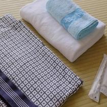 【客室アメニティ】 浴衣・タオル