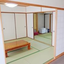 2間和室(6+10畳):太平洋を望むオーシャンビュー(一例)