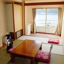 和室7.5畳:太平洋を望むオーシャンビュー(一例)
