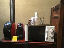 コーヒーメーカー・日本茶・抹茶 ご自由にご利用ください