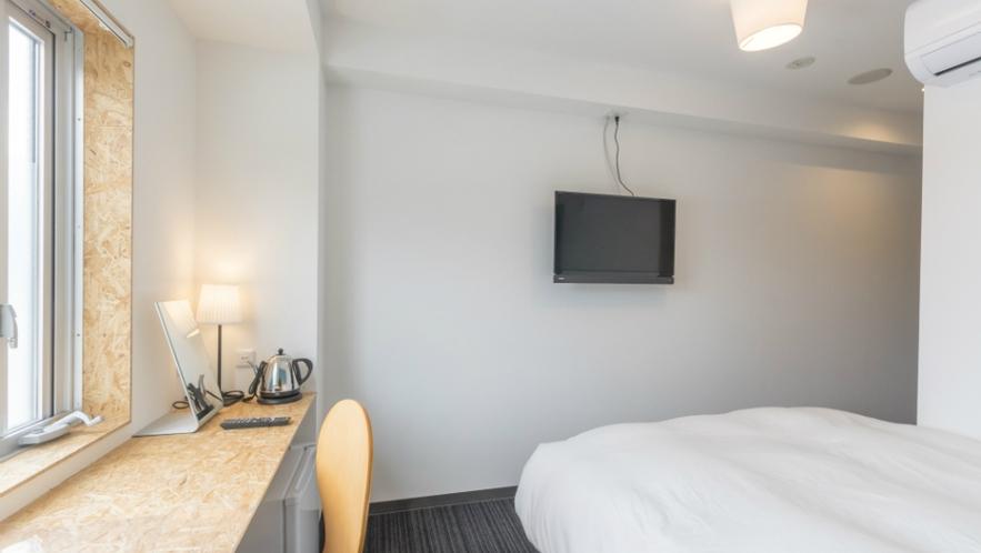 高層階ダブルルーム(ベッド幅140㎝)一例
