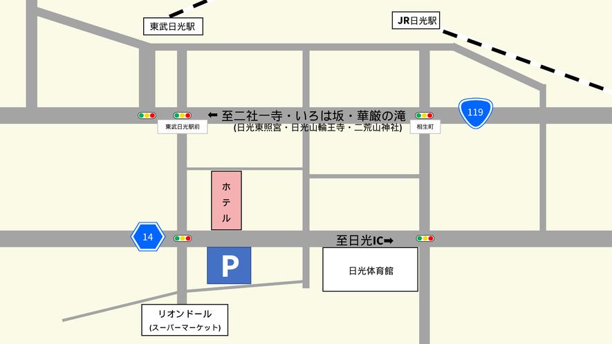 駐車場ご案内地図