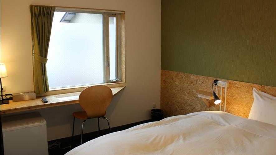 ダブルルーム(ベッド幅140㎝)一例