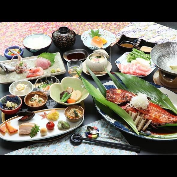 金目鯛コース*不動の人気!金目鯛の姿煮がついたお料理となっております