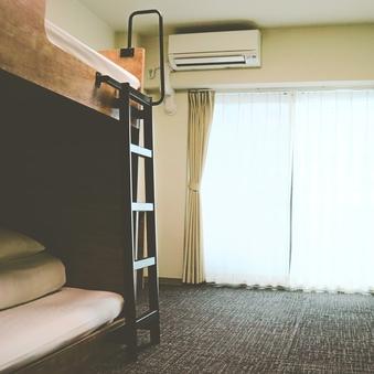 【禁煙】バンクツインルーム【2段ベッドで客室広々!】