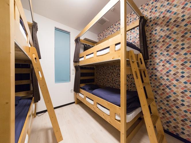 4人部屋2段ベッド