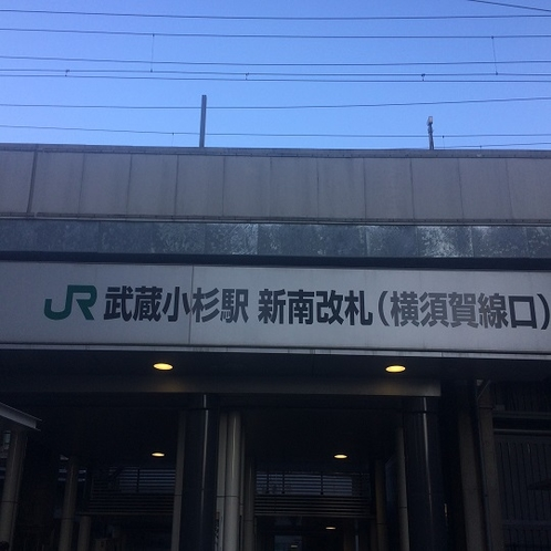 横須賀線の新南改札をおくぐり下さい