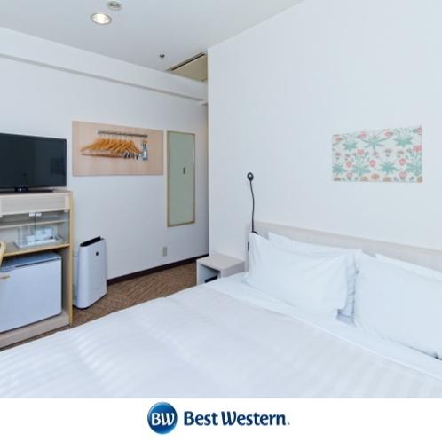 ダブルルーム 13.2m² シモンズ社製160㎝幅ベッド