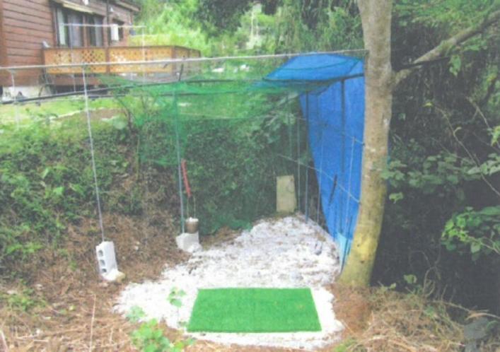 ゴルフスイング練習場