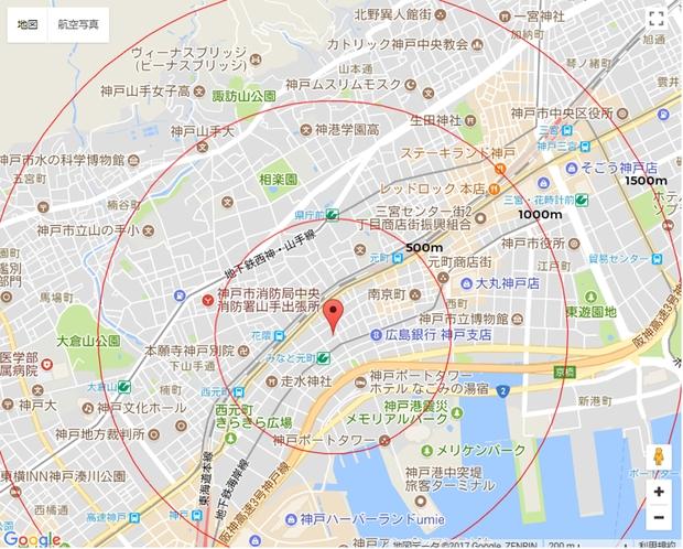 神戸市内中心部マップ
