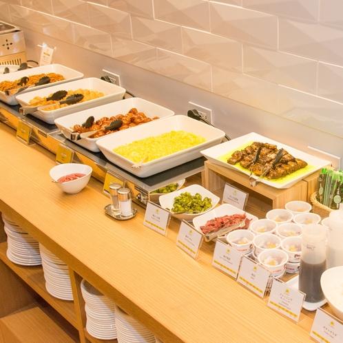 【朝食】営業時間6:30~9:00 和洋ビュッフェ