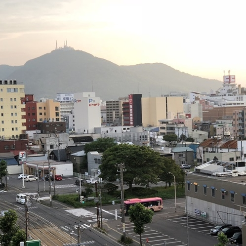 屋上からの景色 函館山方面