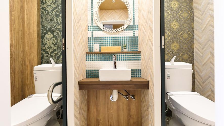 ・共用女子トイレ/トイレは男女別です