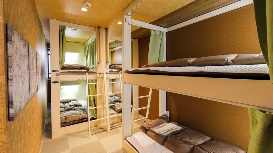 ・【個室】6人部屋/ご家族やグループ旅行に人気のお部屋です