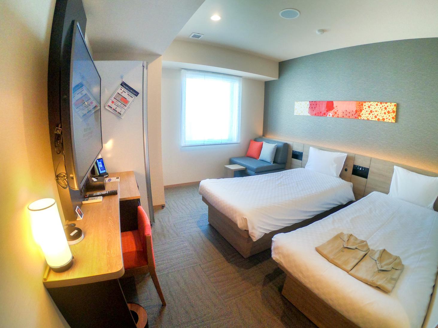 【デラックスツインルーム】大人3名様+添い寝1名様で宿泊可能 広々としたお部屋です♪
