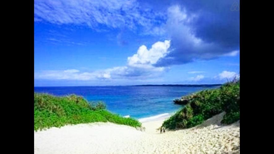 【周辺】古宇利島の青い海と空は絶景です!
