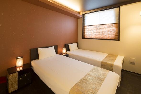モダン洋室 Bタイプ(ツインルーム)◆落ち着いたモダンの雰囲気に和の彩りが融合した癒しの部屋