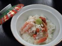 セイコ蟹(メスのズワイガニ)丼 小