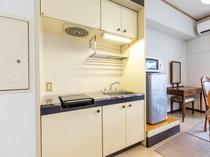 ツインルーム 1 キッチンも各部屋についております!