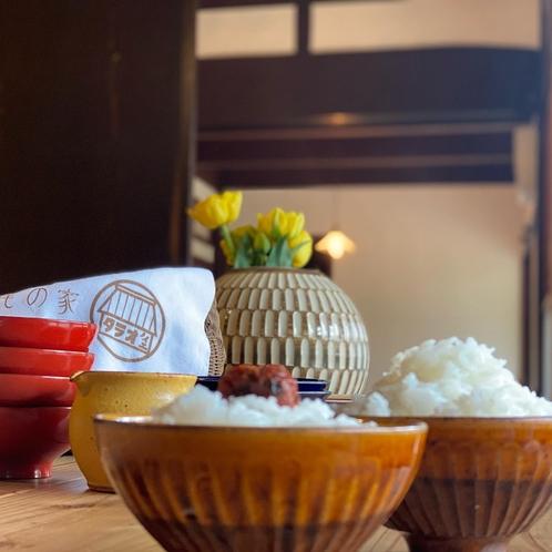 ごはん土鍋で炊いたごはんは、ぴかぴか!