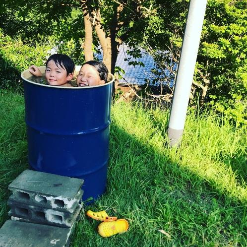 楽しいドラム缶風呂