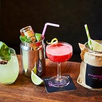 【Cafe&Bar】豊富なオリジナルカクテルのほかにも、地ビール、ワイン、ソフトドリンクも♪