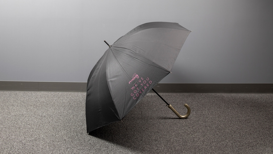 【貸出備品】大きいMOXY傘をフロントにてご用意!