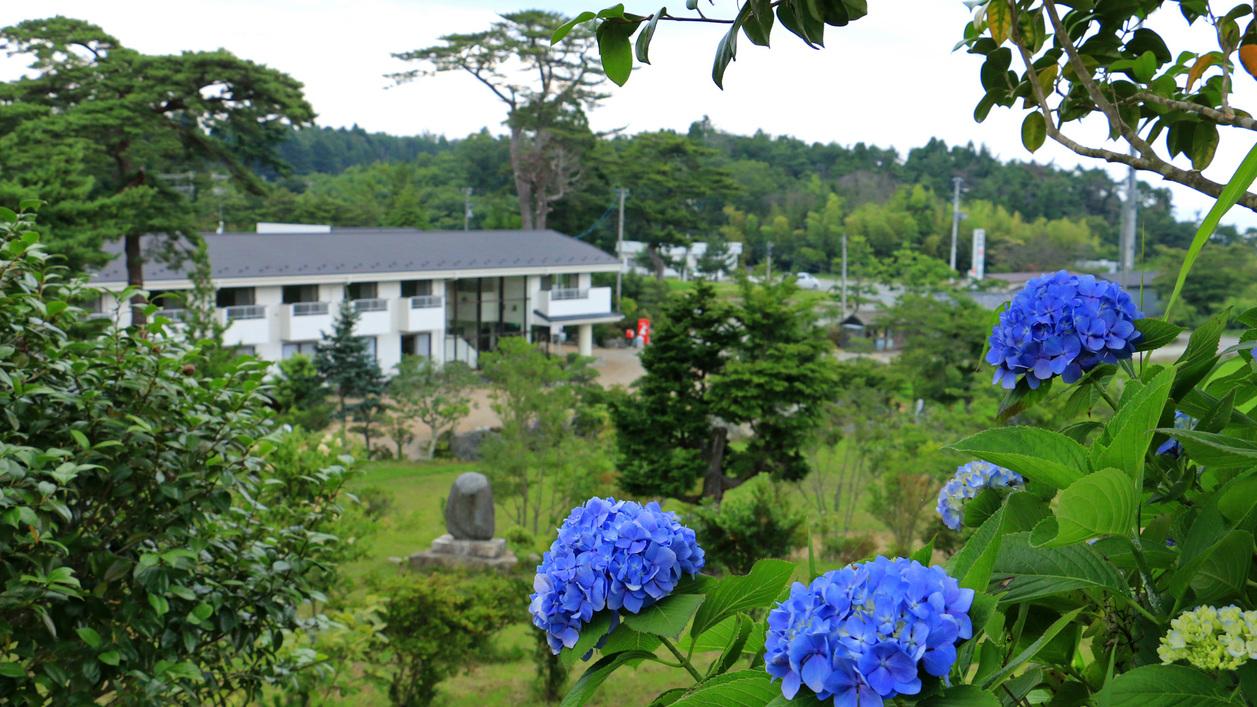 紫陽花の季節の蘇峰園