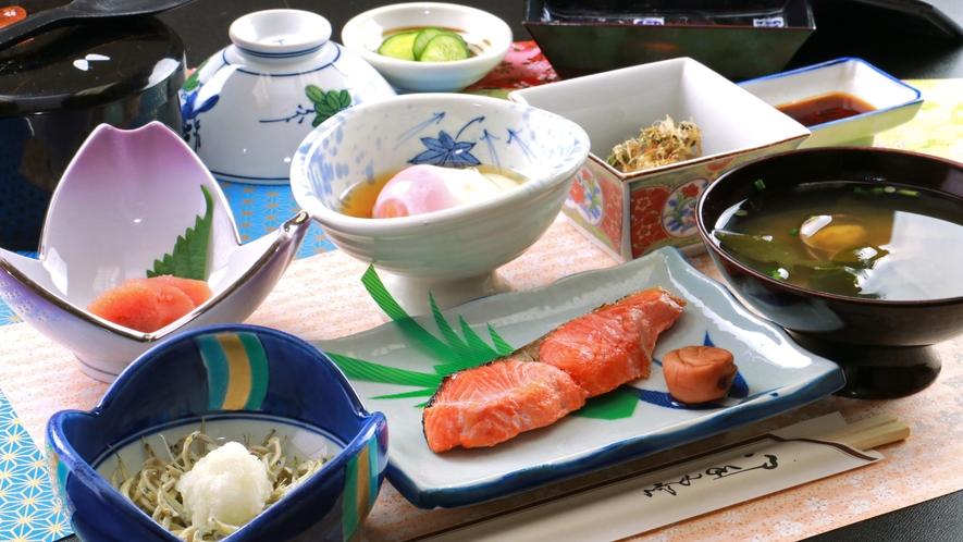 【朝食一例】朝食は1日の活力!炊きたての天のつぶを召し上がれ