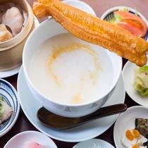 朝食は身体に優しい中華粥