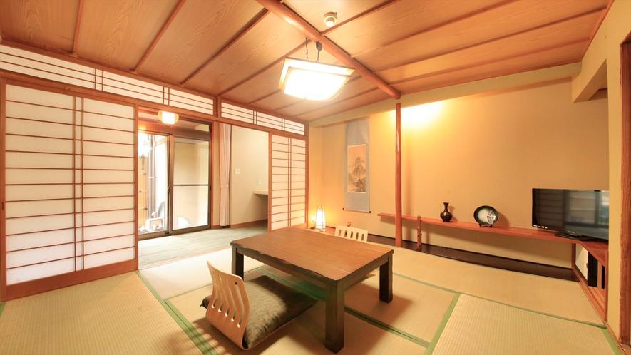【露天風呂付き客室】和室8畳