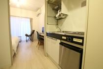 ダブルベッドルームのキッチン