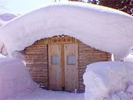 大雪!野天風呂