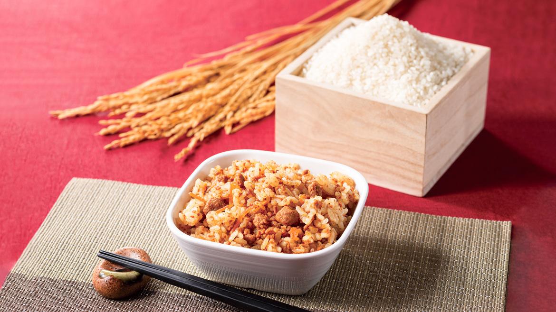 【大垣限定メニュー】岐阜県が奨励品種とする幻の米「ハツシモ」を使った炊き込みご飯です。