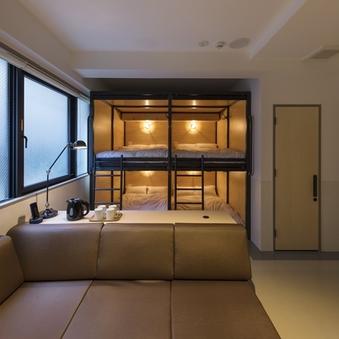2段ベッド2台・4ベッドルーム【禁煙】/ベッド幅120cm