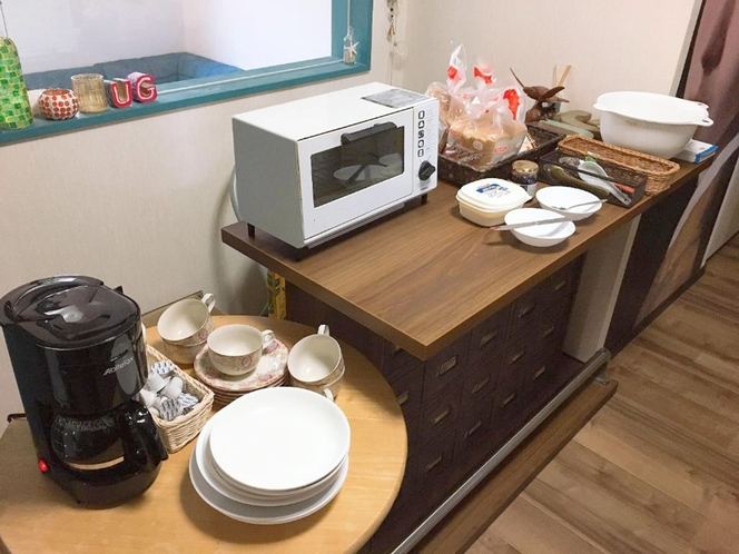・【朝食無料】パンやお飲み物の朝食サービス始めました!ご自由にご利用ください。