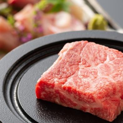 【牛お任膳】 刺身、天ぷら、椀物、メインは桜姫鶏&和牛ステーキ付♪お湯自慢の福の湯へお越し下さいませ